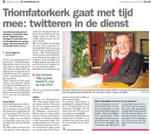 Twitterdienst 25.3.2012 (deel 2)