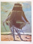"""Dalí - kostuumontwerp """"Waanzinnige Tristan"""" (foto gemaakt uit Taschen-uitgave Dali, p.372)"""